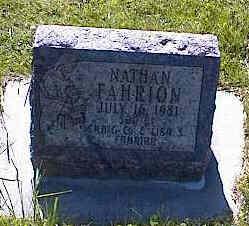 FAHRION, NATHAN - La Plata County, Colorado | NATHAN FAHRION - Colorado Gravestone Photos