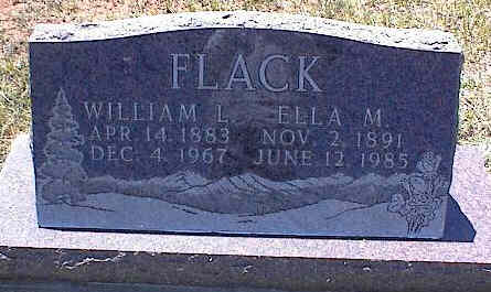 FLACK, WILLIAM L. - La Plata County, Colorado | WILLIAM L. FLACK - Colorado Gravestone Photos