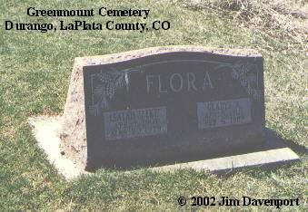 FLORA, GLADYS A. - La Plata County, Colorado | GLADYS A. FLORA - Colorado Gravestone Photos