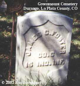FOSTER, JAMES C. - La Plata County, Colorado   JAMES C. FOSTER - Colorado Gravestone Photos
