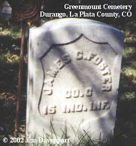 FOSTER, JAMES C. - La Plata County, Colorado | JAMES C. FOSTER - Colorado Gravestone Photos