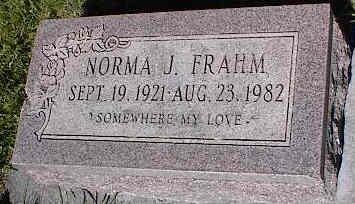 FRAHM, NORMA J. - La Plata County, Colorado   NORMA J. FRAHM - Colorado Gravestone Photos