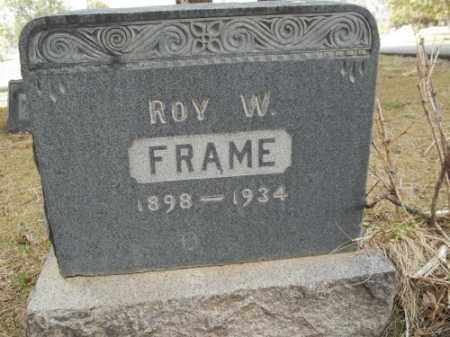 FRAME, ROY W. - La Plata County, Colorado | ROY W. FRAME - Colorado Gravestone Photos