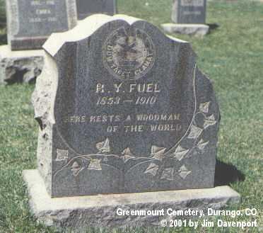 FUEL, R. Y. - La Plata County, Colorado | R. Y. FUEL - Colorado Gravestone Photos