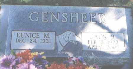 GENSHEER, EUNICE M. - La Plata County, Colorado | EUNICE M. GENSHEER - Colorado Gravestone Photos