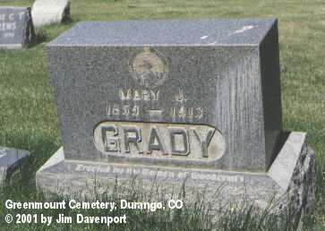 GRADY, MARY J. - La Plata County, Colorado | MARY J. GRADY - Colorado Gravestone Photos