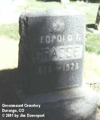 GRASSE, LEOPOLD - La Plata County, Colorado | LEOPOLD GRASSE - Colorado Gravestone Photos