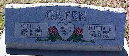 GREEN, LOUETTA E. - La Plata County, Colorado | LOUETTA E. GREEN - Colorado Gravestone Photos