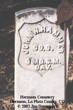 HAMMER, JOHN W. - La Plata County, Colorado | JOHN W. HAMMER - Colorado Gravestone Photos