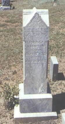 HAMPTON, ALPHONSA H. - La Plata County, Colorado   ALPHONSA H. HAMPTON - Colorado Gravestone Photos