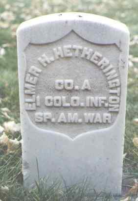 HETHERINGTON, ELMER H. - La Plata County, Colorado   ELMER H. HETHERINGTON - Colorado Gravestone Photos