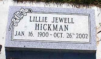 HICKMAN, LILLIE JEWELL - La Plata County, Colorado | LILLIE JEWELL HICKMAN - Colorado Gravestone Photos