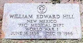 HILL, WILLIAM EDWARD - La Plata County, Colorado   WILLIAM EDWARD HILL - Colorado Gravestone Photos