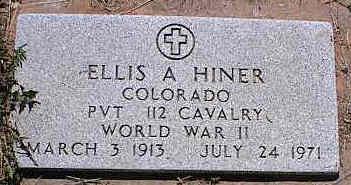 HINER, ELLIS A. - La Plata County, Colorado | ELLIS A. HINER - Colorado Gravestone Photos