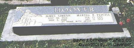 PERCELL HOOVER, MARTHA K. - La Plata County, Colorado | MARTHA K. PERCELL HOOVER - Colorado Gravestone Photos