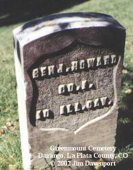 HOWARD, BENJ. - La Plata County, Colorado | BENJ. HOWARD - Colorado Gravestone Photos