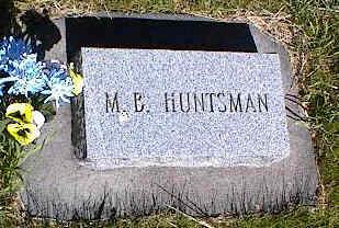 HUNTSMAN, M.B. - La Plata County, Colorado | M.B. HUNTSMAN - Colorado Gravestone Photos