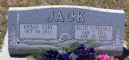 JACK, RUTH FLORENCE - La Plata County, Colorado | RUTH FLORENCE JACK - Colorado Gravestone Photos