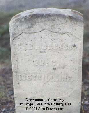 JACKSON, C. B. - La Plata County, Colorado   C. B. JACKSON - Colorado Gravestone Photos