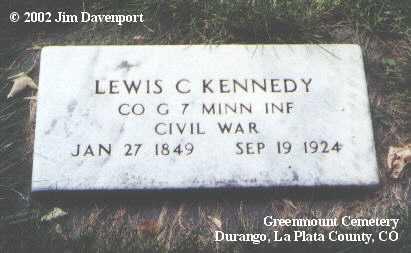 KENNEDY, LEWIS C. - La Plata County, Colorado   LEWIS C. KENNEDY - Colorado Gravestone Photos
