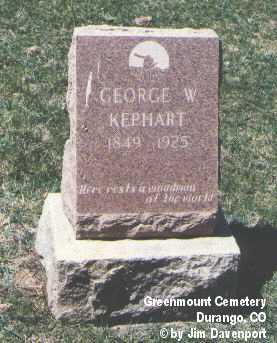 KEPHART, GEORGE W. - La Plata County, Colorado | GEORGE W. KEPHART - Colorado Gravestone Photos