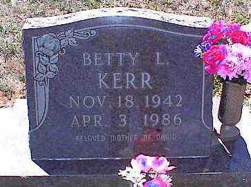 KERR, BETTY L. - La Plata County, Colorado   BETTY L. KERR - Colorado Gravestone Photos