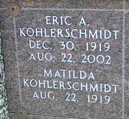 KOHLERSCHMIDT, MATILDA - La Plata County, Colorado | MATILDA KOHLERSCHMIDT - Colorado Gravestone Photos