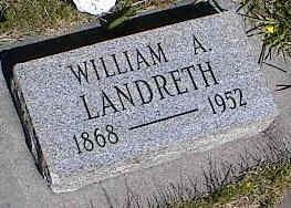 LANDRETH, WILLIAM A. - La Plata County, Colorado   WILLIAM A. LANDRETH - Colorado Gravestone Photos