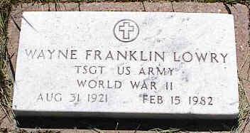 LOWRY, WAYNE FRANKLIN - La Plata County, Colorado   WAYNE FRANKLIN LOWRY - Colorado Gravestone Photos
