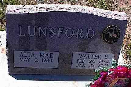 LUNSFORD, WALTER B. - La Plata County, Colorado | WALTER B. LUNSFORD - Colorado Gravestone Photos