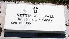 LYALL, NETTIE JO - La Plata County, Colorado   NETTIE JO LYALL - Colorado Gravestone Photos