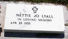 LYALL, NETTIE JO - La Plata County, Colorado | NETTIE JO LYALL - Colorado Gravestone Photos