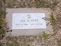 MARR, MAE M. - La Plata County, Colorado   MAE M. MARR - Colorado Gravestone Photos