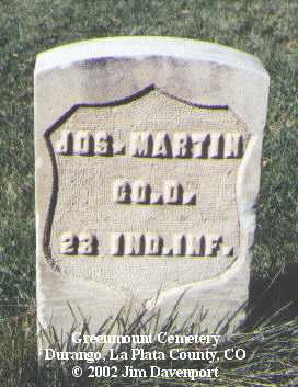 MARTIN, JOS. - La Plata County, Colorado | JOS. MARTIN - Colorado Gravestone Photos