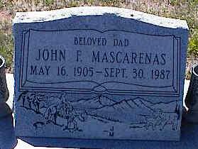 MASCARENAS, JOHN F. - La Plata County, Colorado   JOHN F. MASCARENAS - Colorado Gravestone Photos