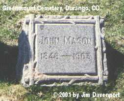 MASON, JOHN - La Plata County, Colorado | JOHN MASON - Colorado Gravestone Photos