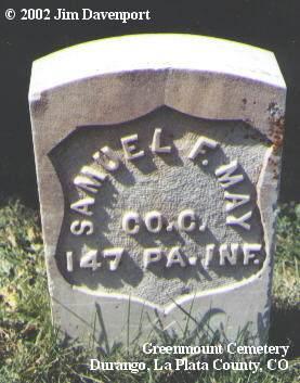 MAY, SAMUEL F. - La Plata County, Colorado   SAMUEL F. MAY - Colorado Gravestone Photos