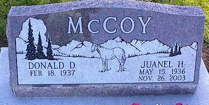 MCCOY, JUANEL H. - La Plata County, Colorado   JUANEL H. MCCOY - Colorado Gravestone Photos