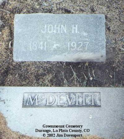 MCDEVITT, JOHN H. - La Plata County, Colorado | JOHN H. MCDEVITT - Colorado Gravestone Photos
