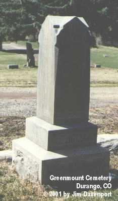 MCHOLLAND, J. H. - La Plata County, Colorado   J. H. MCHOLLAND - Colorado Gravestone Photos
