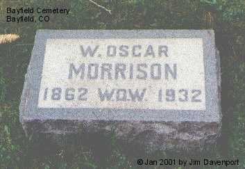 MORRISON, W. OSCAR - La Plata County, Colorado | W. OSCAR MORRISON - Colorado Gravestone Photos