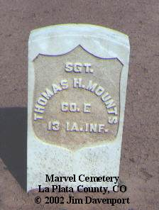 MOUNTS, THOMAS H. - La Plata County, Colorado | THOMAS H. MOUNTS - Colorado Gravestone Photos