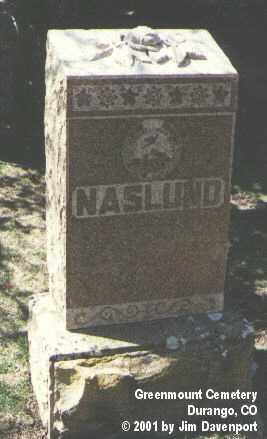 NASLUND, UNKNOWN - La Plata County, Colorado   UNKNOWN NASLUND - Colorado Gravestone Photos