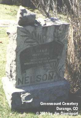 NELSON, HANS - La Plata County, Colorado   HANS NELSON - Colorado Gravestone Photos