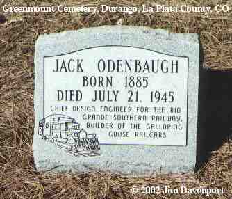 ODENBAUGH, JACK - La Plata County, Colorado   JACK ODENBAUGH - Colorado Gravestone Photos