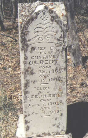 OLBERT, ELIZA E. - La Plata County, Colorado | ELIZA E. OLBERT - Colorado Gravestone Photos