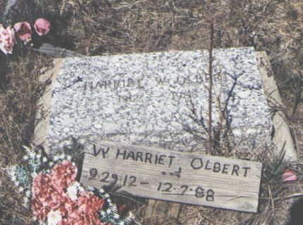 OLBERT, W. HARRIET - La Plata County, Colorado   W. HARRIET OLBERT - Colorado Gravestone Photos