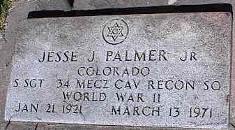 PALMER, JR., JESSE J. - La Plata County, Colorado | JESSE J. PALMER, JR. - Colorado Gravestone Photos