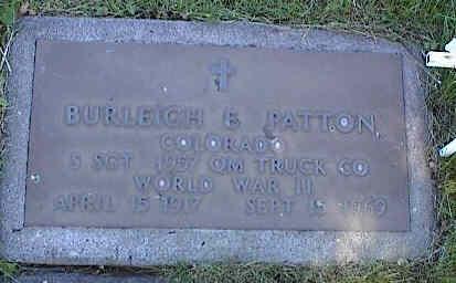 PATTON, BURLEIGH E. - La Plata County, Colorado | BURLEIGH E. PATTON - Colorado Gravestone Photos