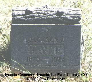 PAYNE, JACKSON J. - La Plata County, Colorado   JACKSON J. PAYNE - Colorado Gravestone Photos